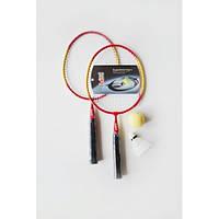 Набор бадминтон FLASH Set MB-125 детский (2 ракетки сталь , волан пластик, мяч мягкий)