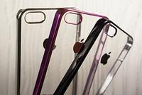 "Пластиковый Чехол ""Clear bort color"" для Apple iPhone 5/5S Чехол для айфона"