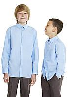Голубая школьная рубашка F&F