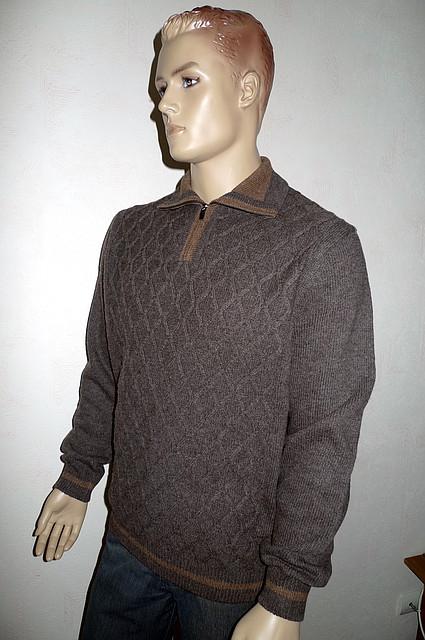 Теплый свитер на змейке - Распродажа !