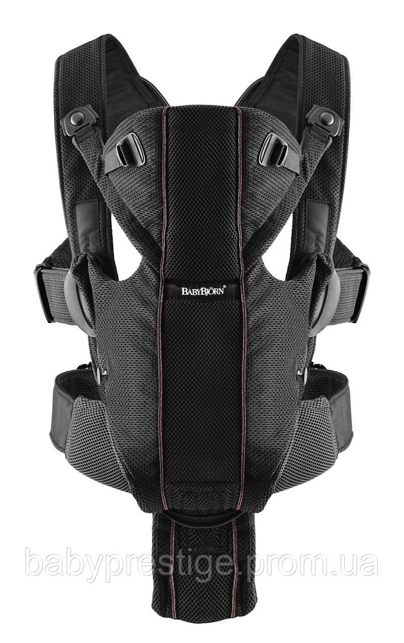 Эргономичный рюкзак для переноски детей Babybjorn Carrier Miracle Mesh - Black