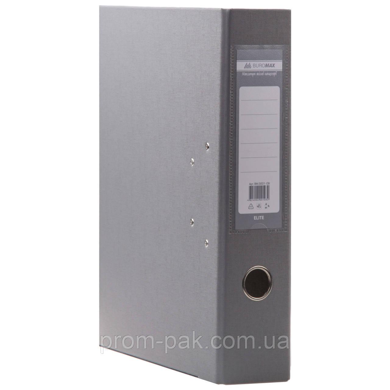 Папка регистратор  А4 Buromax 7см серый