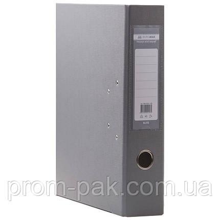Папка регистратор  А4 Buromax 7см серый, фото 2