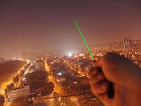 Зеленый лазер указка+5 насадок