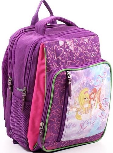 Яркий вместительный школьный рюкзак для девочки из нейлона 9 л. Bagland 11270-20 фиолетовый