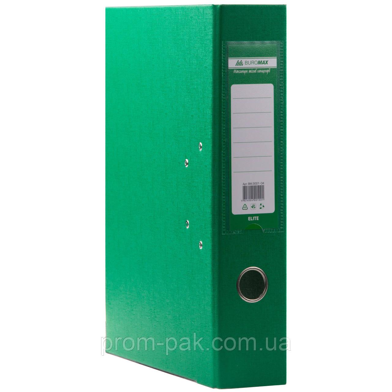 Папка регистратор  А4 Buromax 7см зеленый