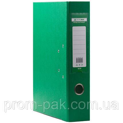 Папка регистратор  А4 Buromax 7см зеленый, фото 2