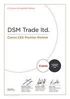 DSM-Trade присвоен статус Премьер Партнера компании Canon в Украине в 2016 году!