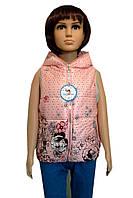 Веселая жилетка для девочек 2-6 лет