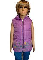 Веселая жилетка для девочек 2-5 лет на флисе