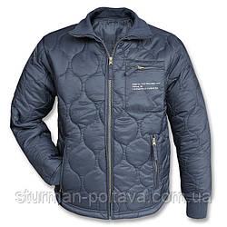 Куртка чоловіча демисизонная утеплювач - утеплювач US KÄLTESCHUTZJACKE Mil-Tec синій колір Німеччина