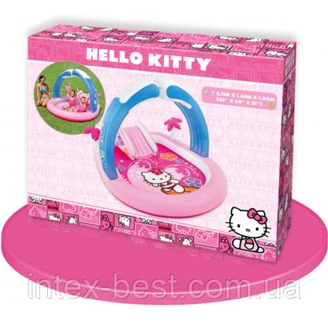 """Детский надувной игровой центр с душем """"Hello Kitty"""" Intex 57137, фото 2"""
