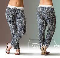Легкие летние брюки в больших размерах из шелка e-1515385