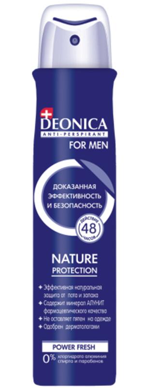 Антиперспирант спрей Deonica for men Nature Protection 200 мл