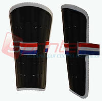 Щитки футбольные юношеские пластик L черные 844-3L