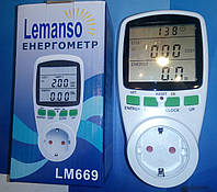 Энергометр (измеритель мощности и расхода электроэнергии) Lemanso LM669 3680W 230V