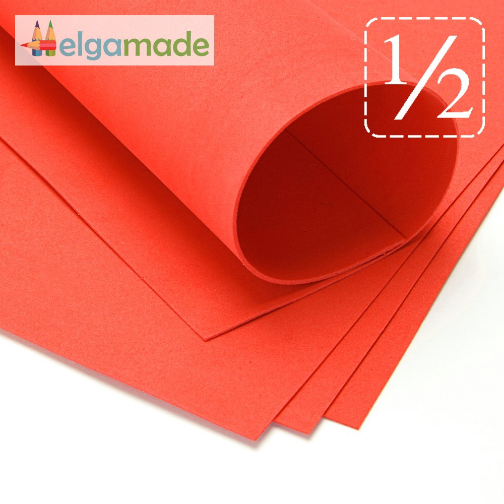 Фоамиран ТОМАТ (оранжевый), 1/2 листа, 30x70 см, 0.8-1.2 мм, Иран