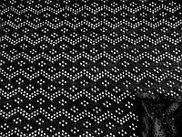 Трикотаж Ажурная волна (черный) (арт. 2224) отрез 1 м