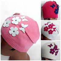 шапка вязанная весна для девочек