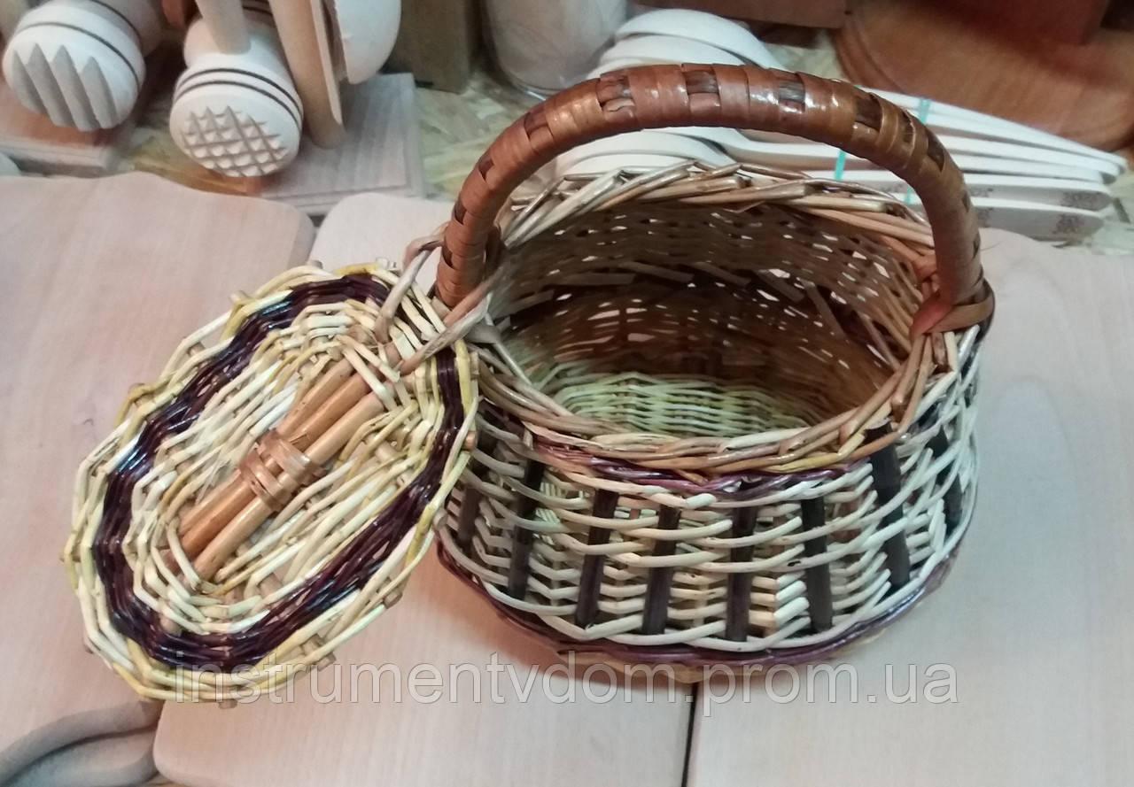 Корзина плетеная детская с крышкой (1 шт)