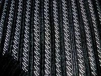 Трикотаж Ажурная косичка (черный) (арт. 2225) отрез 1 м