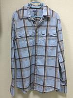 Голубая рубашка в клетку H&M, фото 1