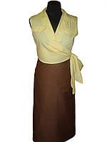 Блузка женская без рукавов, на запах Atteks - 02107