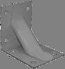 Уголок крепежный № 130 (тонкий, с усилением) (70х70х50х1,5 мм)
