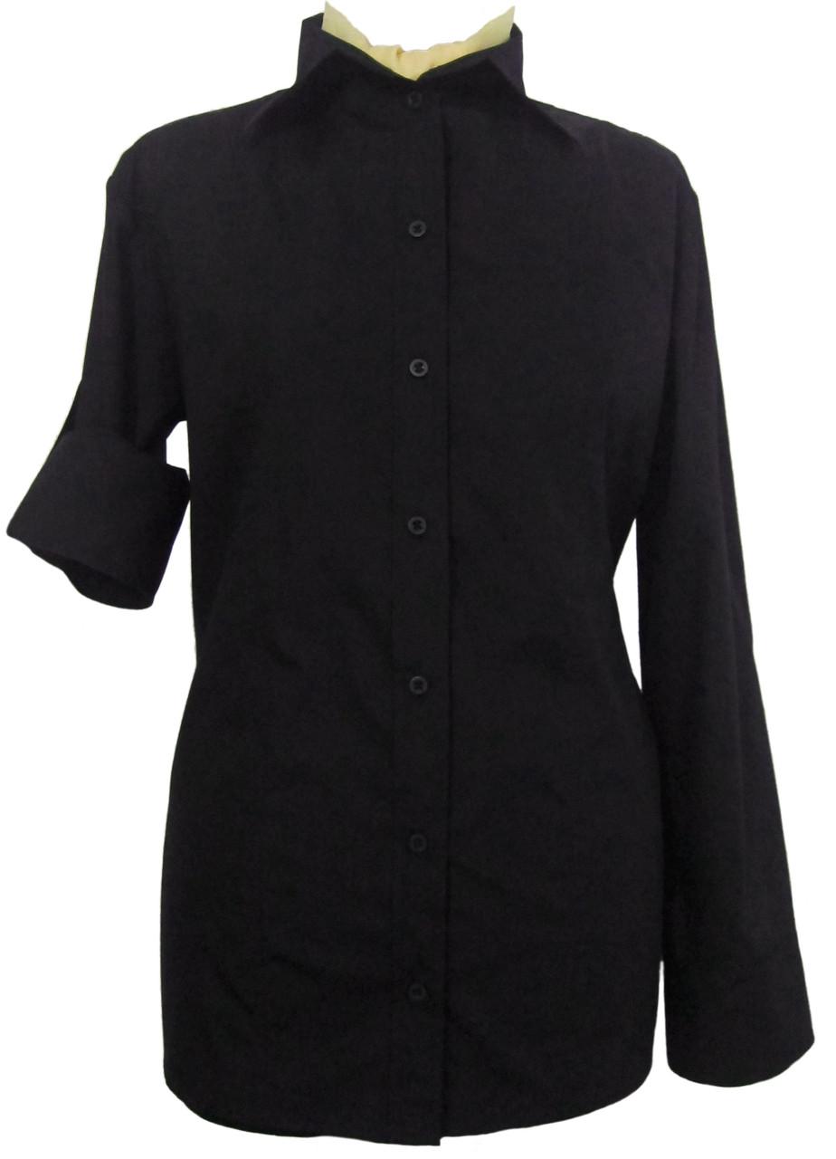 Рубашка женская черная классическая