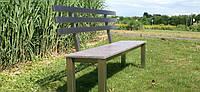 Садовая скамейка со спинкой