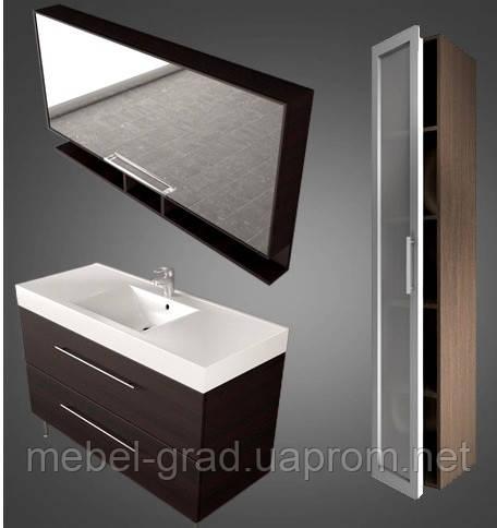 Комплект мебели для ванной Barbados 120 Буль-буль венге
