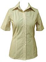 Рубашка женская с коротким рукавом светлая