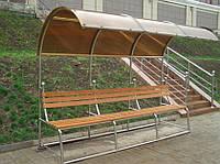Скамейка с навесом для дачи