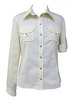 Рубашка женская с карманами и длинным рукавом