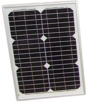 Сонячна панель монокристаллическая 20Вт (PT-020)