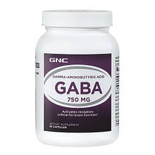 ГАБА, GABA GNC INTL GABA 750 90 caps