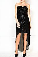 Черное платье в пайетках - New look