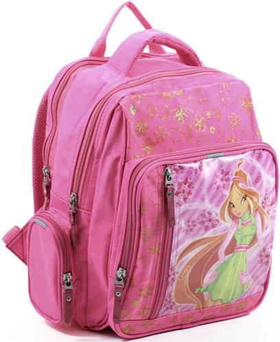Яркий практичный школьный рюкзак для девочки из нейлона 9 л. Bagland 11270-27