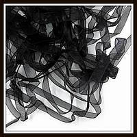 Лента из органзы, 0,6 см, черная