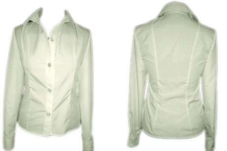 Рубашка женская приталенная, белая