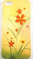 "Пластиковый Чехол ""Flowers yellow"" для Apple iPhone 5/5S Чехол для айфона"