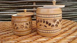 Деревянные баночки для сыпучих и круп