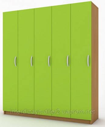 Шкафчики для одежды в детский сад (5 секции)