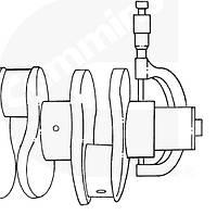 Размеры коленчатого вала двигателей Cummins B3.9, B4.5 RGT, B5.9.