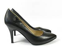 Кожаные туфли на невысоком каблуке, фото 1
