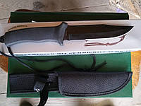 Нож MIL-TEC KAMPFMESSER MIT GUMMIGRIFF Black, 15358002, фото 1