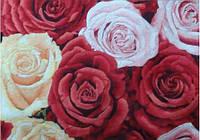 """Картина вышитая шелком """"Розы"""""""