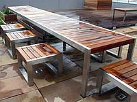 Мебель из дерева садовая