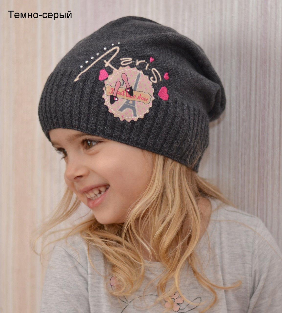 Детская весенняя шапка для девочки
