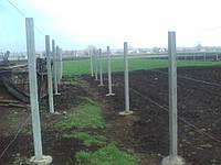 Столб для рабицы  и винограда 2,70 м.
